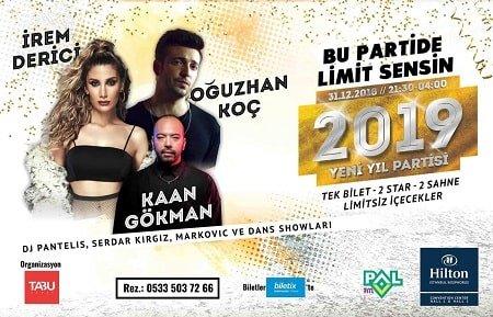 Hilton İstanbul Bosphorus Yılbaşı 2019
