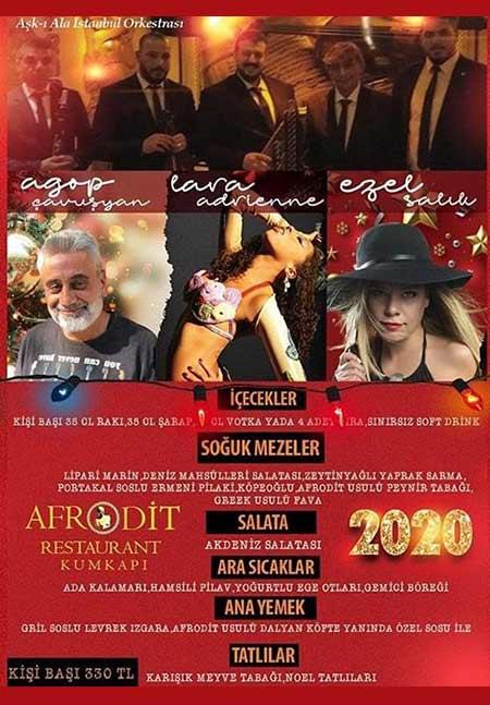 Kumkapı Afrodit Restaurant Yılbaşı 2020