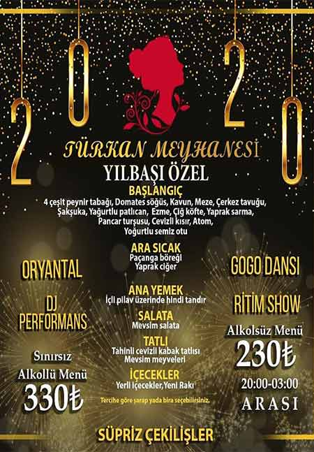 Türkan Meyhane Kadıköy Yılbaşı 2020