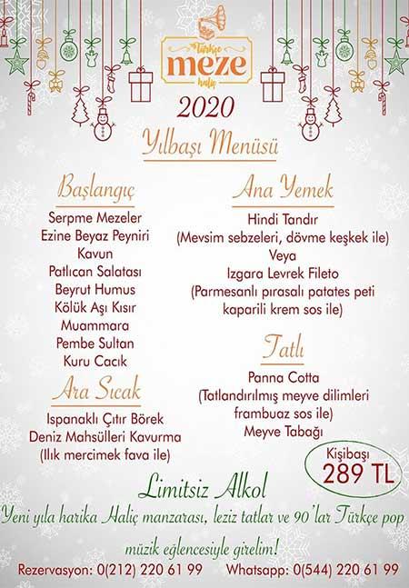 Türkçe Meze İstanbul Yılbaşı 2020