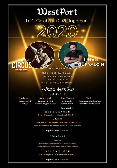 Westport Pub İstanbul Yılbaşı 2020
